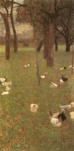 Gustav Klimt (Austrian Symbolist painter, 1862-1918) After the Rain 1899