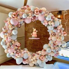 """For The ❤of Parties on Instagram: """"Beautiful colors on this balloon hoop! 🌸 BY:  @opulent_balloons #balloons #balloonhoops #balloonhoop #pastels #sopretty😍 #christeningparty…"""" Wedding Balloon Decorations, Wedding Balloons, Birthday Party Decorations, Baby Shower Decorations, Birthday Parties, Birthday Kids, Balloon Birthday, Deco Buffet, Christening Party"""