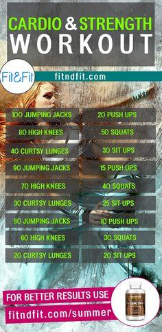 Cardio & Strength Workout! #fitness #bodybuilding #workout #gym #weightloss #fatloss #loseweightfast #love #new #pinterest #london #newyork #uk #newyork #losangeles Mens Fitness, Fitness Tips, Health Fitness, Strength Workout, Strength Training, Losing Weight Tips, How To Lose Weight Fast, Weight Lifting, Weight Loss