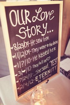Cute 'Our Story' board :)