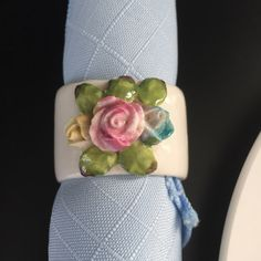 A personal favorite from my Etsy shop https://www.etsy.com/listing/248771462/vintage-place-card-and-napkin-ring