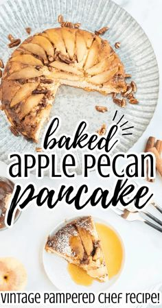 This baked apple pecan pancake recipe is simple and easy. Originally from The Pampered Chef, it is the best breakfast for dinner or brunch recipe! Cooked in the oven with fresh apples and chopped nuts. Great for fall family gatherings. #apples #applerecipes #fallrecipes #pancakes #breakfast #breakfastfordinner Vegetarian Breakfast, Breakfast For Dinner, Best Breakfast, Apple Recipes, Fall Recipes, Sweet Recipes, Brunch Recipes, Breakfast Recipes, Breakfast Ideas