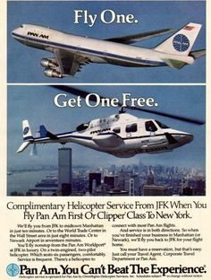 UA launches helicopter shuttle service in Manhattan, connecting 3 helipads to EWR Vintage Travel Posters, Vintage Airline, National Airlines, Pan Am, Air Festival, Commercial Aircraft, Poster Ads, Air Travel, Aviation