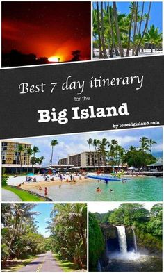 Best 7-day itinerary for the Big Island of Hawaii. Take in the Volcano and the lava, explore the beaches, the rainforest, and the waterfalls.