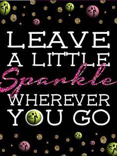 Leave a little sparkle!