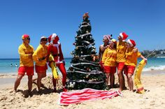 Christmas tree on the beach in Australia.