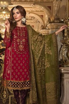 Maria B Mbroidered Wedding Collection 2018 Nauratan Party | Etsy