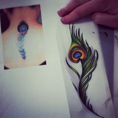 A client came in wanting a peacock feather tattoo on her ribs, under her bra line. This is the reference that she brought and this is what i came up with. I really hope that she likes it! Just a rough idea. I will tweak it if she is happy.