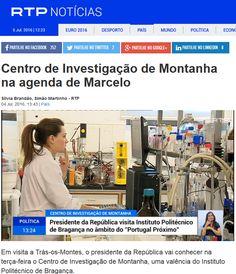Centro de Investigação de Montanha na agenda de Marcelo