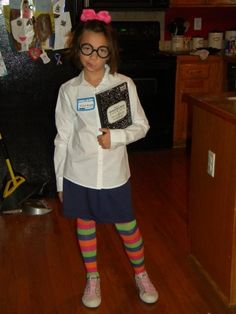 Junie B. Jones is not impressed. Cute possible Halloween costume my youngest daughter loves junie b jones books