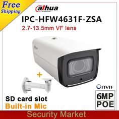 Wholesale Dahua 6MP IPC-HFW4631F-ZSA replace IPC-HFW4431R-Z IP 2.7mm ~13.5mm varifocal motorized lens POE IR Mic camera  Price: 1873.16 & FREE Shipping #computers #shopping #electronics #home #garden #LED #mobiles #rc #security #toys #bargain #coolstuff |#headphones #bluetooth #gifts #xmas #happybirthday #fun Camera Prices, Noise Reduction, Buying Wholesale, Shutter Speed, Sd Card, Lens, Bluetooth Gadgets, Electronics Gadgets