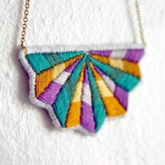I love it when someone comes up with a way to use traditional craft in a unique and contemporary way. ( via paisleystclaire)