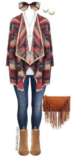 Plus Size Fall Cardigan Outfit - Plus Size Fashion for Women - http://alexawebb.com /search/?q=%23alexawebb&rs=hashtag
