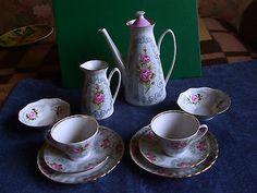 Vintage USSR Latvia Riga PFF Cofee Set 2 Persons Fine Bone China 1970s 36 | eBay