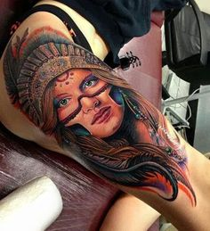 #indian girl #tattoo on leg