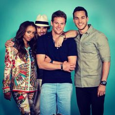 Kat Graham, Ian Somerhalder, Zach Roerig, and Chris Wood