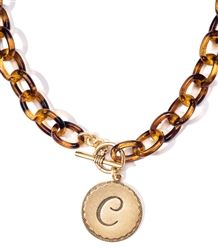 John Wind of Maximal Art EXCLUSIVE Tortoise Initial Necklace
