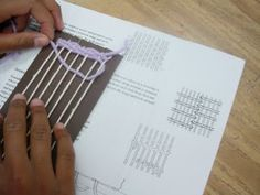 great pics of teaching weaving