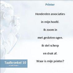 Taalkronkel 10 - Printer