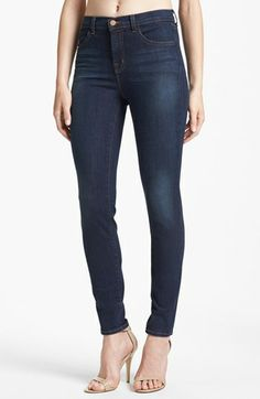 J Brand Maria' High Rise Jeans (Veruca) available at Lean Legs, High Rise Jeans, Every Girl, J Brand, Stretch Jeans, Jeans Style, Autumn Fashion, Nordstrom, Skinny Jeans