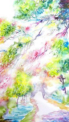 Sentieri 7 - acquerello / watercolor - Cristina Dalla Valentina Art