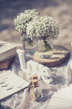 Diy Wedding, Rustic Wedding, Wedding Flowers, Wedding Day, Wedding Decorations, Table Decorations, Gypsophila, Christening, Wedding Designs