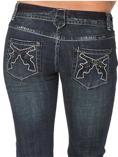 rock and roll cowgirl jeans, cute! Who makes them and where do I get them?