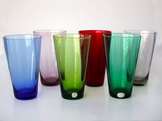 Reijmyre sold the 'Rio' glasses in sets of 6 colors in the 1950s