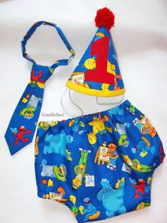 Sesame street Birthday baby boy cake smash outfit by GinaBellas1, $27.50