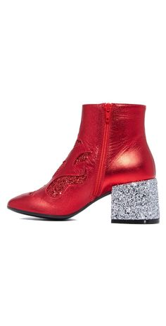MM6 Glam Rock Flare Booties | SHOPBOP SAVE UP TO 25% Use Code: EVENT17