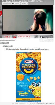 Funny memes Nicki Minaj looks exactly like spongebob Funny memes   [Nicki Minaj looks exactly like Spongebob]
