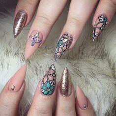 "3,359 Likes, 10 Comments - Oceannailsupply.com (@oceannailsupply) on Instagram: ""Swarovski crystals available on oceannailsupply.com . . . from @helennails_yeg #Swarovski…"""