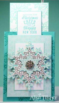 2013 Holiday Blog Hop by Alisa Tilsner Inside of Card #alisatilsner  #festiveflurry
