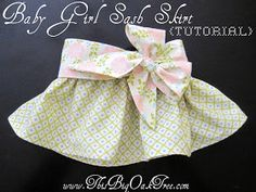 This Big Oak Tree: Fat Quarter Baby Girl Sash Skirt {Tutorial} Up to 17 pounds