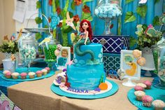 Amazing cake at an under the sea birthday party! See more party ideas at CatchMyParty.com!