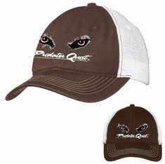 Mesh-Back Cap Coyote Hunting, Mesh, Cap, Fabric, Baseball Hat, Tejido, Tela, Cloths, Fabrics
