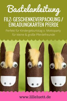 Heute im Blog: Pferde aus Filz & Toilettenpapierrollen ❤❤❤. Wir haben sie hier als Überbringer für Einladungskarten gebastelt. Sie eignen sich aber auch als kleine Geschenk- oder Gutscheinverpackung. Die Anleitung gibt es im Blog www.lilleluett.de #lebenmitkindern #bastelnmitkindern #pferde #ponys #einladung #geburtstag #kindergeburtstag #geburtstagseinladung #klopapierrollen #einladungskarten #filz #bastelnmitfilz #geburtstagsparty #geschenkeverpackung #klopapier #diy #gutscheinverpackung