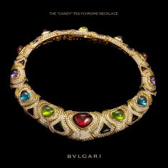 The Candy 'Polychrome' Necklace from Bulgari Lotus Jewelry, Owl Jewelry, High Jewelry, Gemstone Jewelry, Jewelry Accessories, Jewelry Necklaces, Jewelry Design, Unique Necklaces, Bridal Jewelry