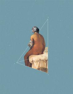 NOT The Valpinçon Bather NOT ART Project: Classic Art into Geometric Designs
