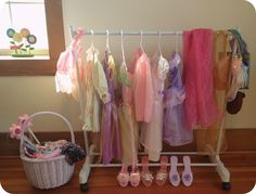 Simple Dress-Up Rack from The Heartland blog