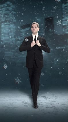 Michael Bublé is Christmas. Listen to his 'Love At Christmas' Playlist now. Merry Christmas Song, Listen To Christmas Music, Christmas Playlist, Christmas Images, Xmas, Michael Buble Tour, Michael Buble Wife, Michael Buble Albums, Beautiful Gif