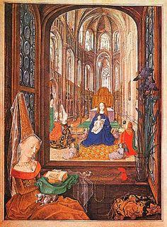 Livro das Horas de Maria da Burgundia iluminura sobre pergaminho, 1467-80