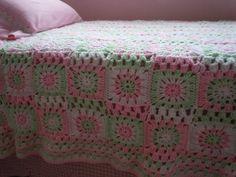 Colcha Granny Crochet - Crochet Granny Blanket