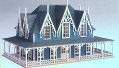 Dollhouse Miniature 1:144th Scale Gothic Mansion Kit #DH-9 1015 #NortheasternScaleModels