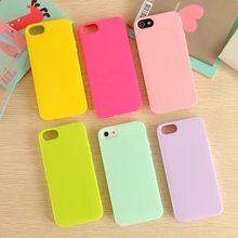 De bonbons de couleur solide TPU de la peau housse pour Apple iPhone 5 5 G 5S souple Gel sac de téléphone cellulaire en caoutchouc 15 couleurs(China (Mainland))