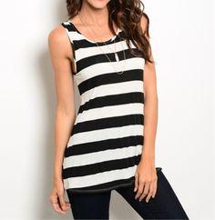 Obsessed To Dress - Black/White Stripe Tank, $14.99 (http://www.obsessedtodress.com/black-white-stripe-tank/)