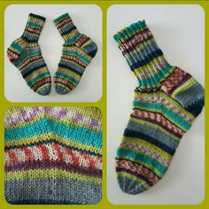 Knitted socks by Oma with icelandic wool