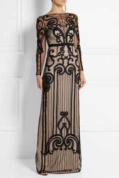 Temperley London | Catroux embroidered tulle gown | NET-A-PORTER.COM
