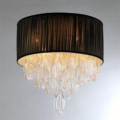 Warehouse of Tiffany RL1082 Silk Crystal Flush Mount Ceiling Light