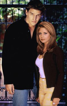 Buffy, Angel by JuliaAngels.deviantart.com on @DeviantArt